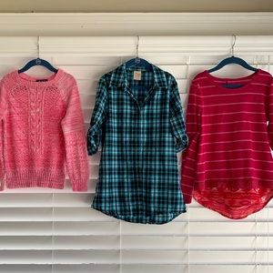 Lot 3 Girl Tops (Girls) 7/8